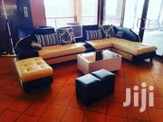 L Sofa, Glass Centre Table and Poufs | Furniture for sale in Central Region, Kampala