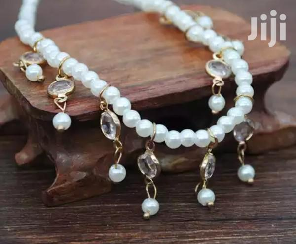 Archive: Royal Cream Pearls Anklet.