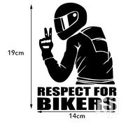 14x19cm Car Sticker Respect For Bikers High Quality Viscosity Polymer   Vehicle Parts & Accessories for sale in Central Region, Kampala