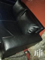 Two Seater Black Leather Sofa | Furniture for sale in Central Region, Kampala