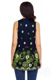 Navy Green Floral Print Flowy Tank Top | Clothing for sale in Central Region, Kampala