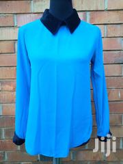 Blue Chiffon Formal Blouse | Clothing for sale in Central Region, Kampala