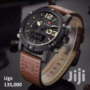 Leather Strapped Dual Designer Watch For Men | Watches for sale in Central Region, Kampala